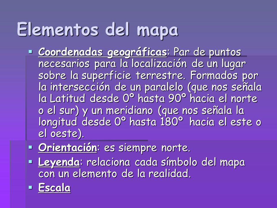 MAPAS TEMÁTICOS Representan la distribución espacial de un hecho geográfico (climas).