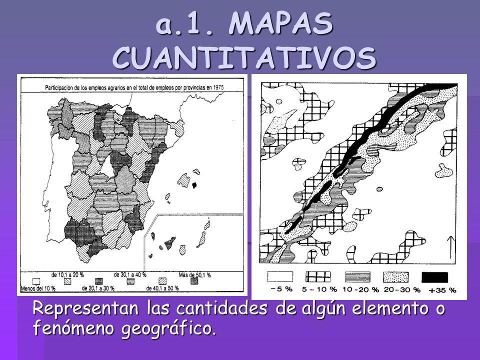 a.2.MAPAS CUALITATIVOS Indican la distribuci ón de un fenómeno sin hacer referenci a a su cantidad o densidad.