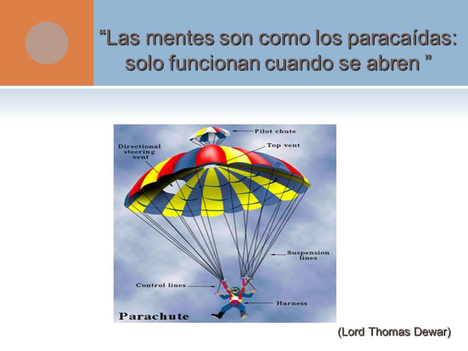 Las mentes son como los paracaídas: solo funcionan cuando se abren Las mentes son como los paracaídas: solo funcionan cuando se abren (Lord Thomas Dew