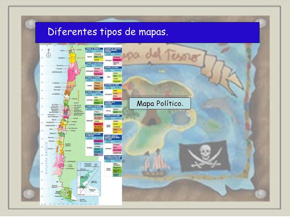Diferentes tipos de mapas. Mapa Político.