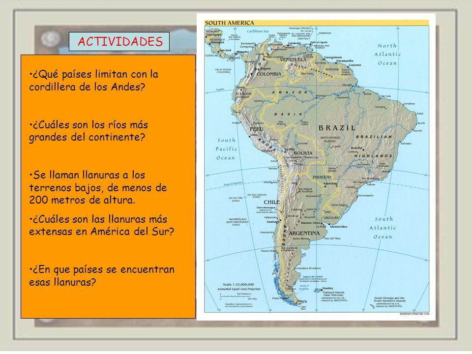 Responde en tu cuaderno. (Página 74) ¿Dónde se encuentra Chile respecto del océano Pacífico? ¿Cuáles son los países vecinos de Brasil por el oeste? ¿t