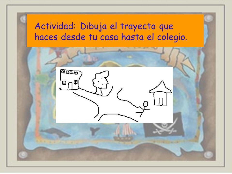 Actividad: Dibuja el trayecto que haces desde tu casa hasta el colegio.