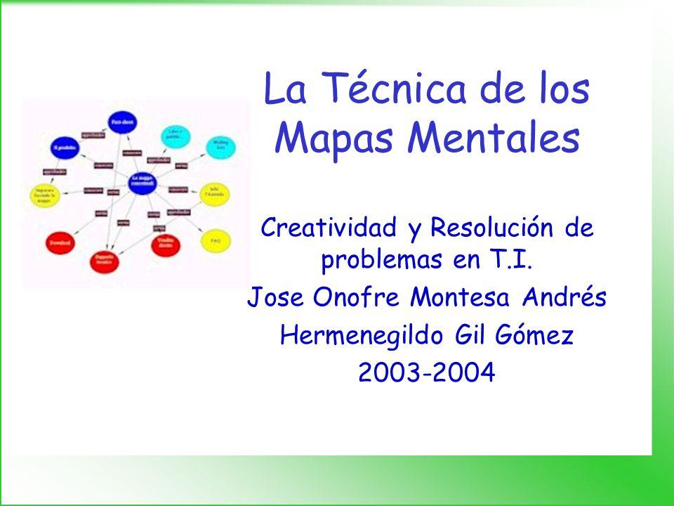 CRP-05. La Técnica de los Mapas Mentales1 Una imagen vale más que mil palabras
