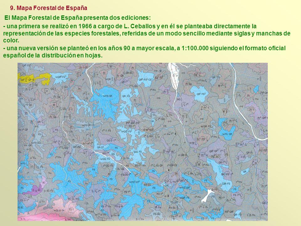 - una nueva versión se planteó en los años 90 a mayor escala, a 1:100.000 siguiendo el formato oficial español de la distribución en hojas. - una prim