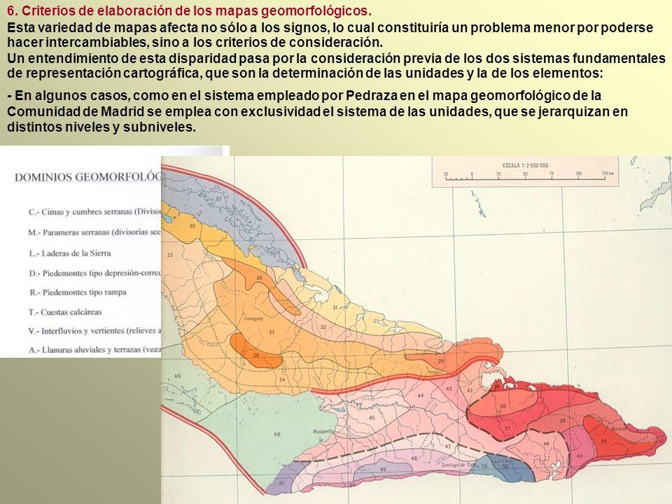 6.Criterios de elaboración de los mapas geomorfológicos.