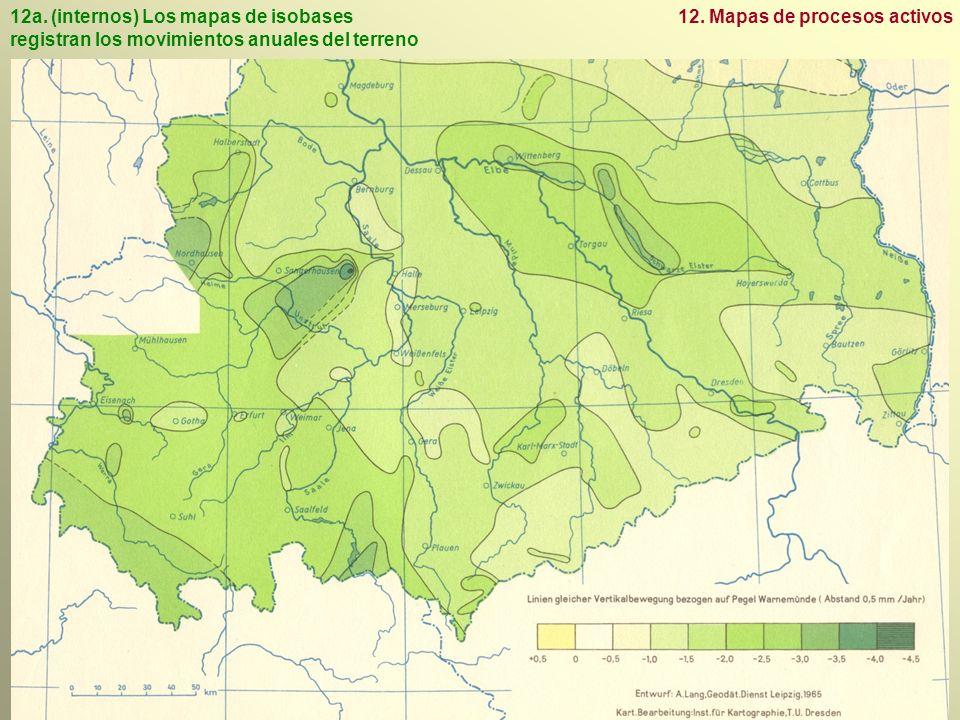 12a.(internos) Los mapas de isobases registran los movimientos anuales del terreno 12.