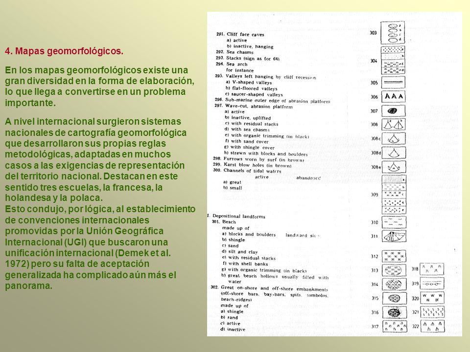 4.Mapas geomorfológicos.