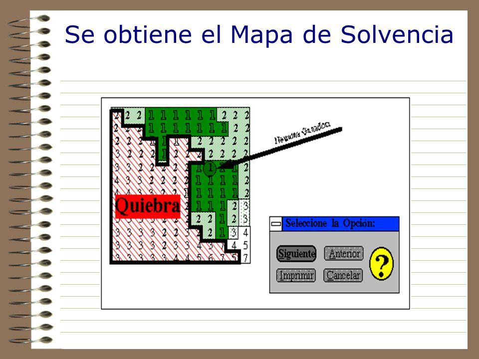 Se ubica a la empresa en el mapa autoorganizado