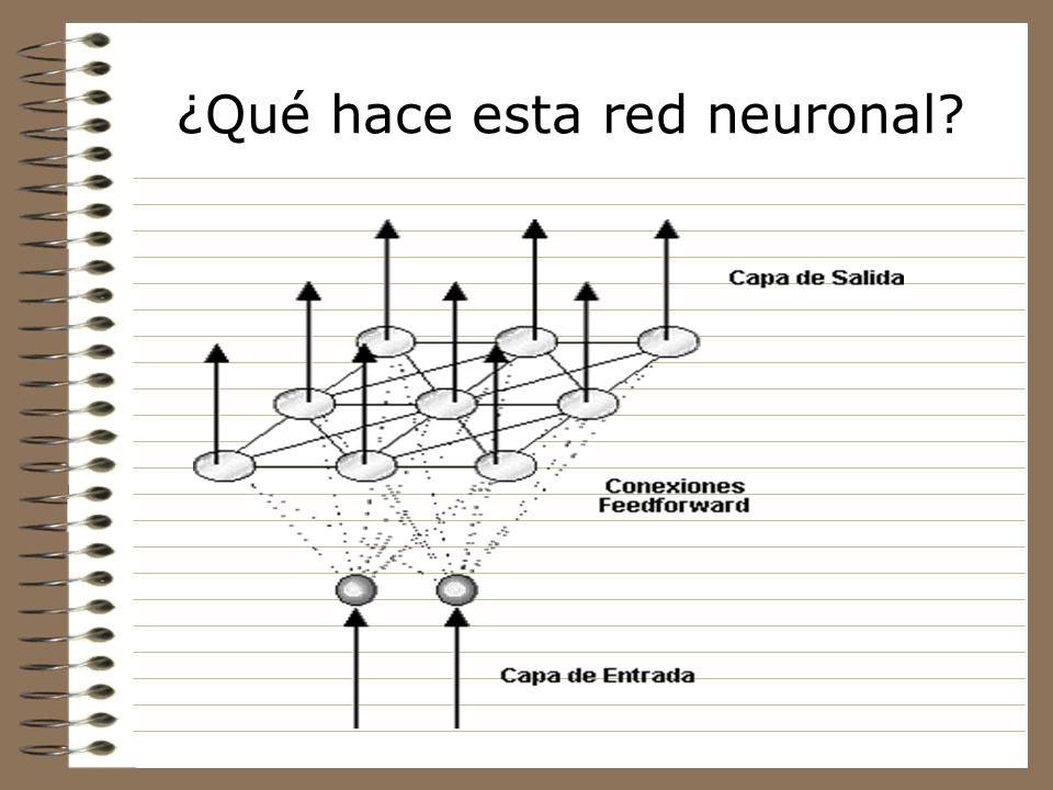 ¿Qué hace esta red neuronal? La idea básica del modelo es crear una imagen de un espacio multidimensional de entrada en un espacio de salida de menor