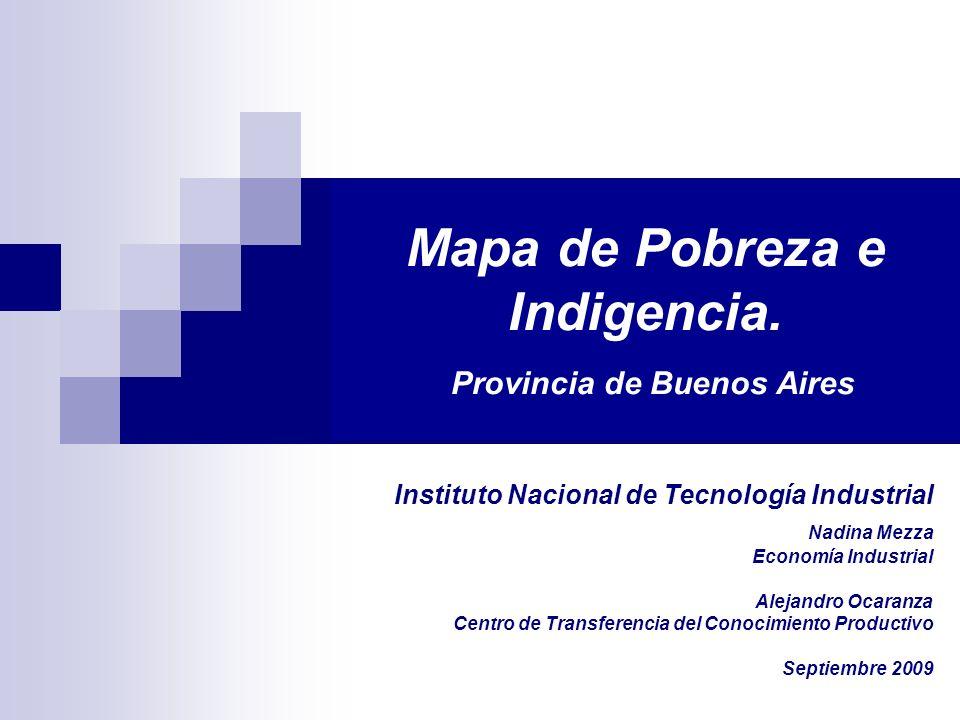 Mapa de Pobreza e Indigencia.