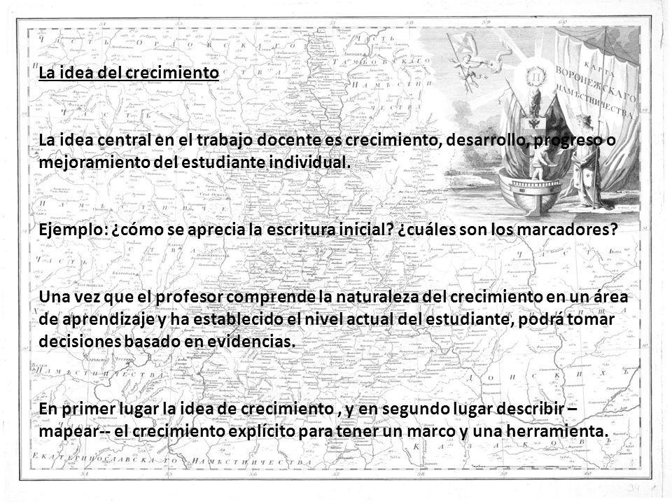 Los argumentos en favor de los mapas de progreso en Chile Las tres grandes ideas: La idea del crecimiento /desarrollo.