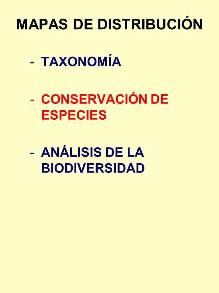 DISTRIBUCIÓN DEL ENDEMISMO Artemisia granatensis