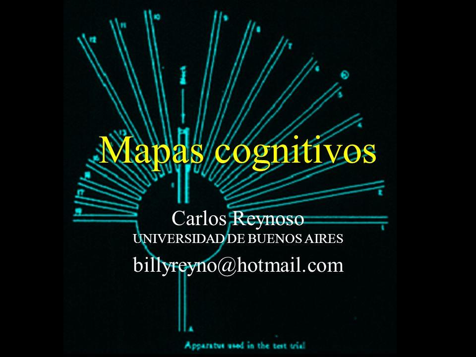 Mapas cognitivos Carlos Reynoso UNIVERSIDAD DE BUENOS AIRES billyreyno@hotmail.com
