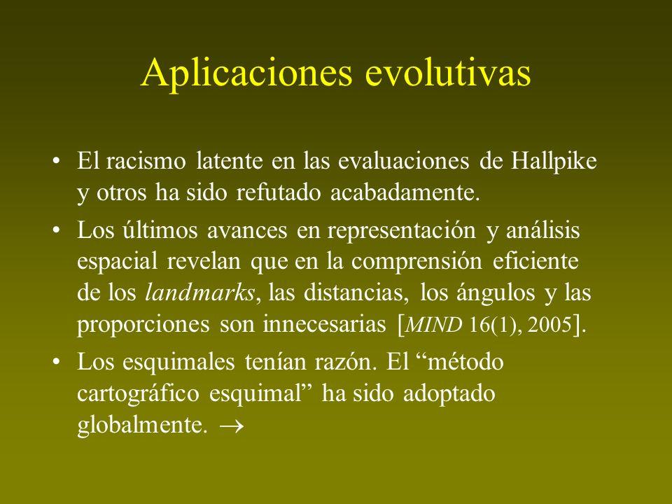Aplicaciones evolutivas El racismo latente en las evaluaciones de Hallpike y otros ha sido refutado acabadamente. Los últimos avances en representació
