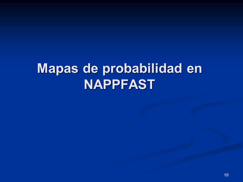 10 Mapas de probabilidad en NAPPFAST