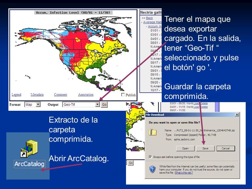 17 Tener el mapa que desea exportar cargado.