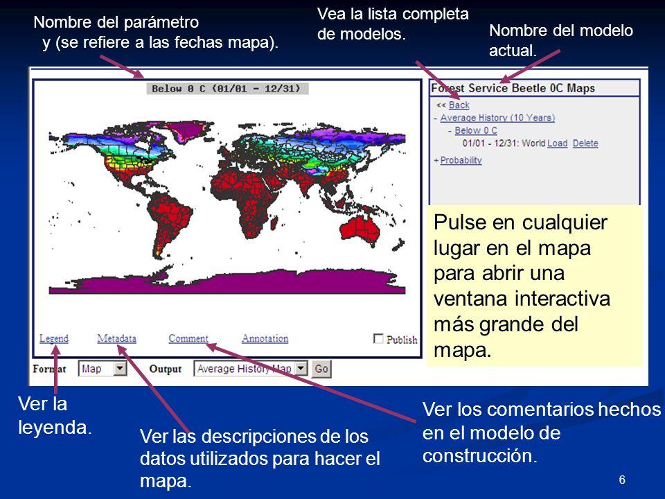 6 Ver la leyenda. Ver las descripciones de los datos utilizados para hacer el mapa. Ver los comentarios hechos en el modelo de construcción. Nombre de