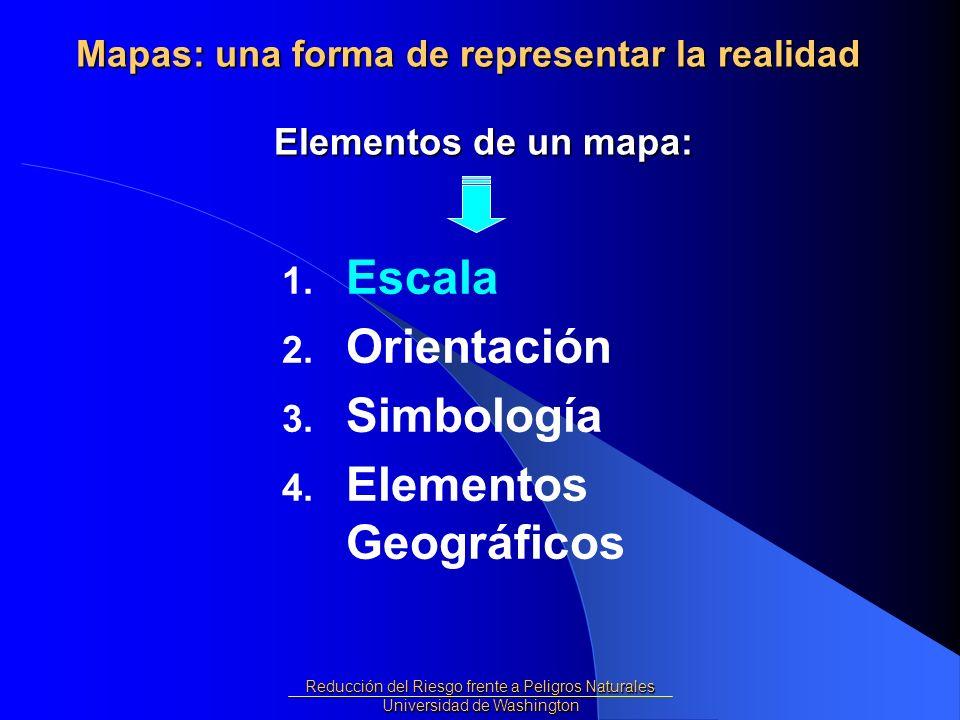 Los Mapas representan la realidad pero … los mapas son mas pequeños que la realidad.