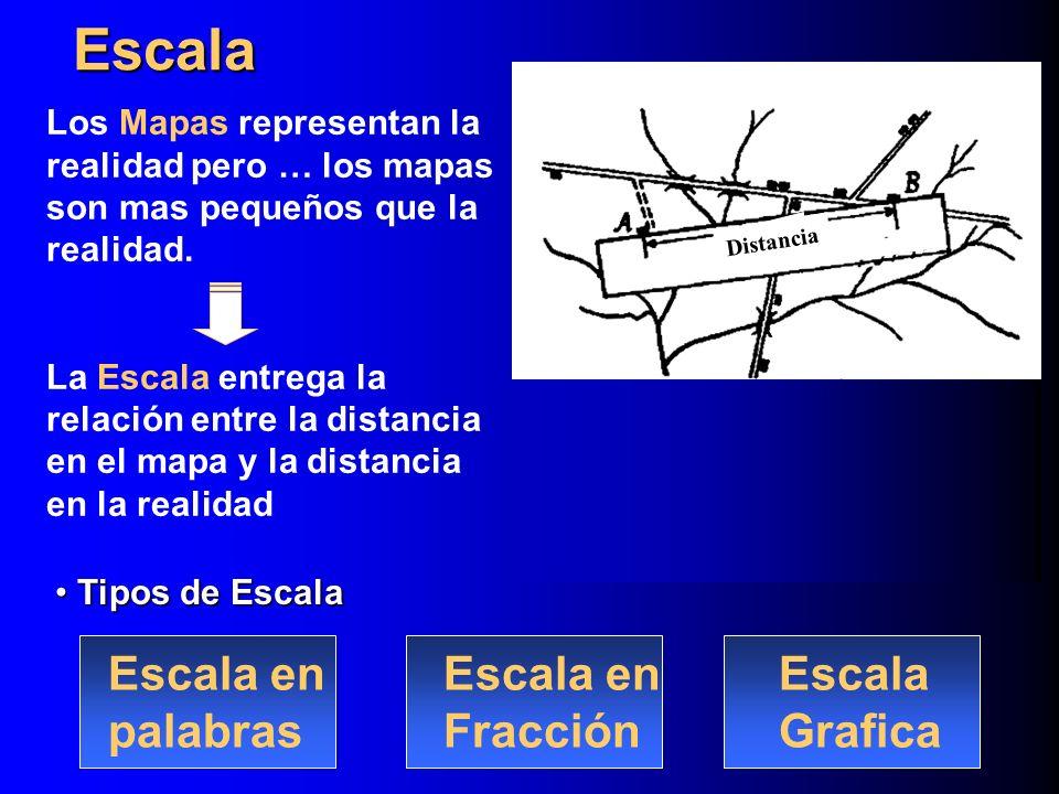 En los mapas es necesario indicar hacia donde se encuentra el Norte.