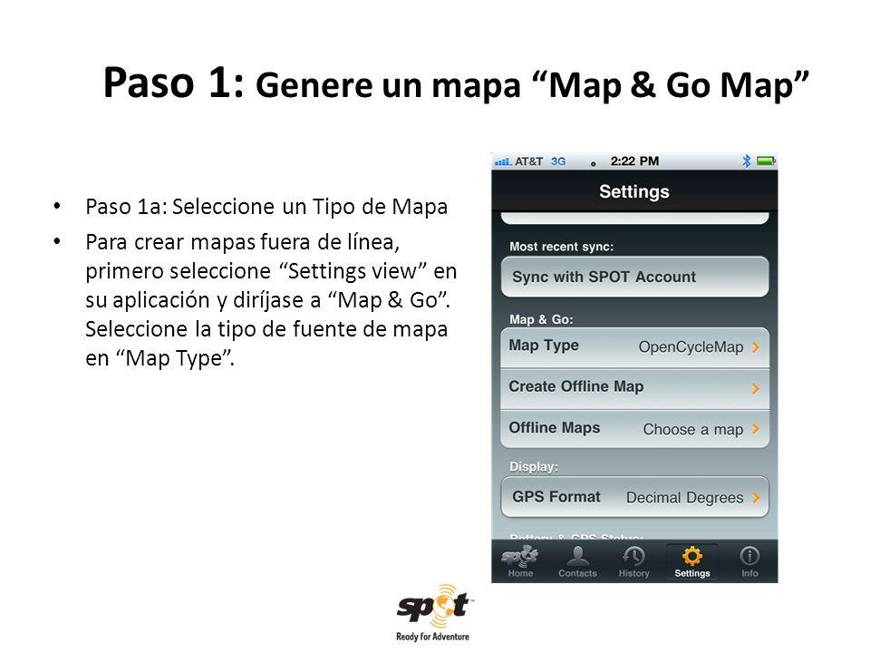 Paso 5: El uso de Map & Go Paso 5: Activar un mapa para usarlo fuera de red Al seleccionar un mapa en la lista de mapas fuera de línea Offline Maps list, notará que el mapa guardado ahora aparece por defecto bajo losMap & Go settings y lo podrá utilizar cuando este viajando y fuera de red.