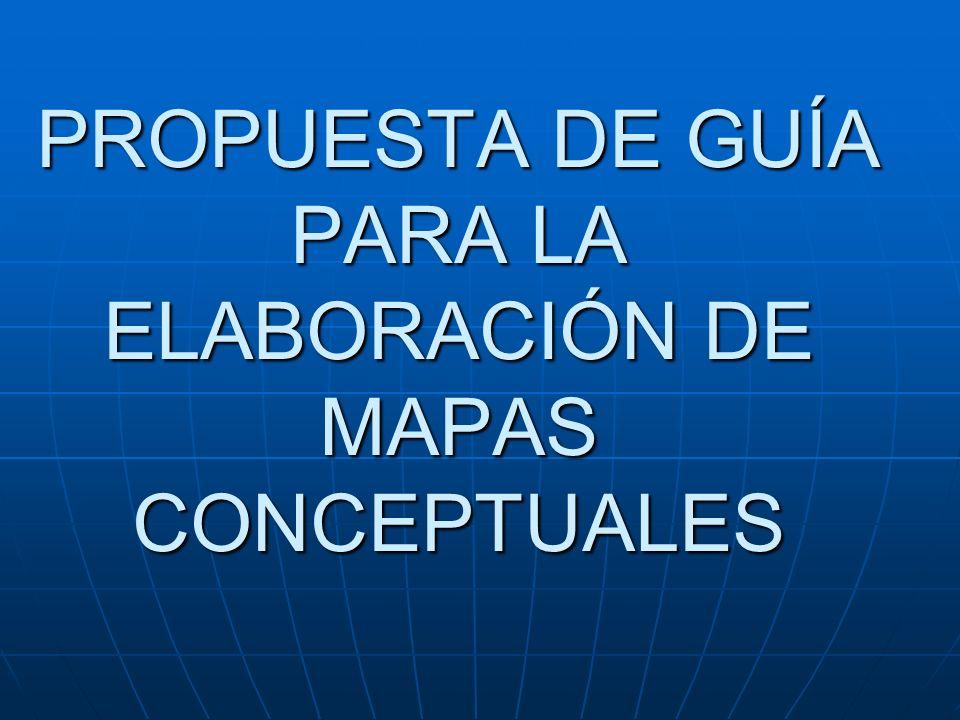 Mapas Conceptuales Los mapas conceptuales representan la estructura del conocimiento.