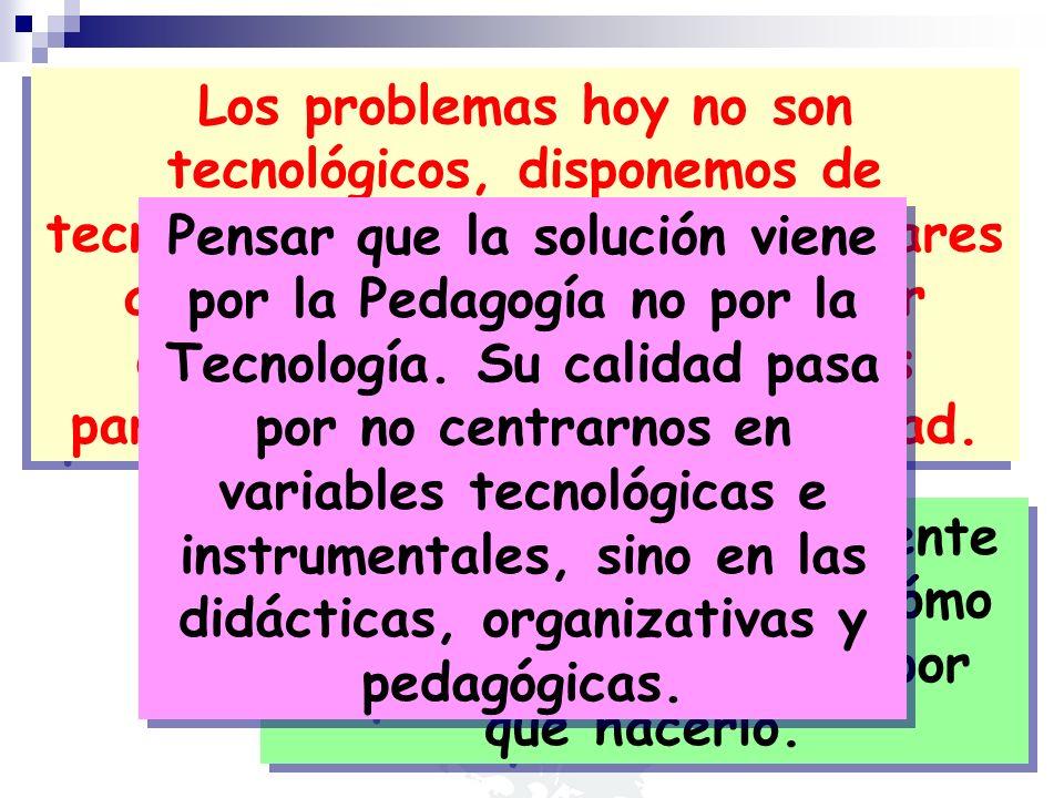 Los problemas hoy no son tecnológicos, disponemos de tecnología amigable y con estándares aceptados que permite realizar diferentes cosas y con buenos