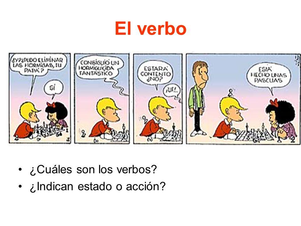 El verbo ¿Cuáles son los verbos ¿Indican estado o acción