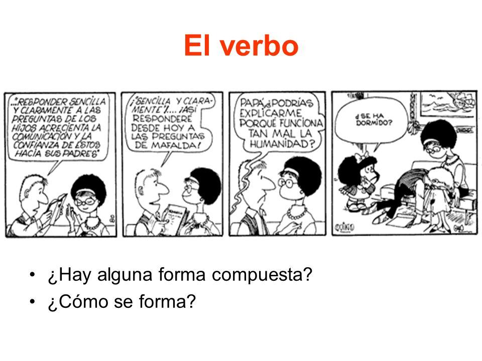 El verbo ¿Hay alguna forma compuesta ¿Cómo se forma