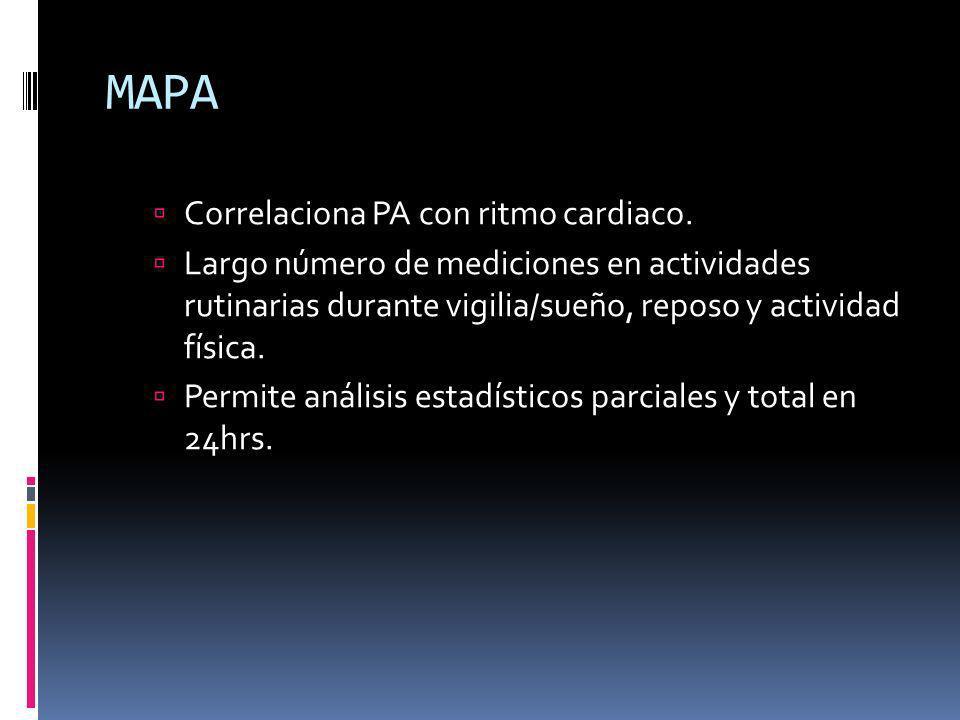 Fisiopatología de la HAS MAPA observa mejor Hiperactividad simpática.