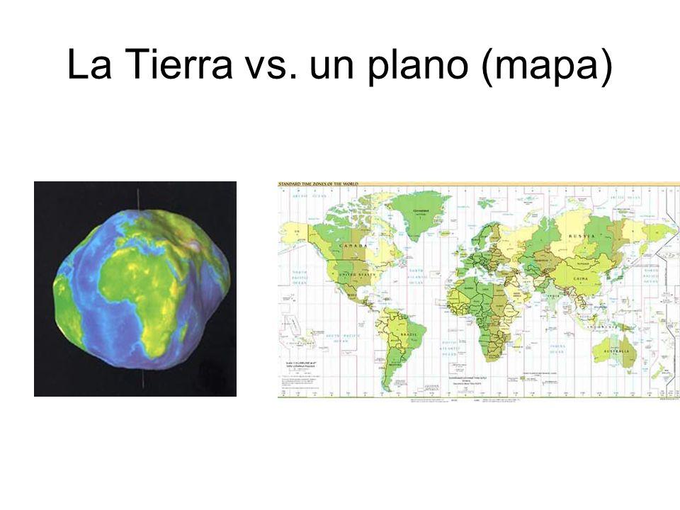 La Tierra vs. un plano (mapa)