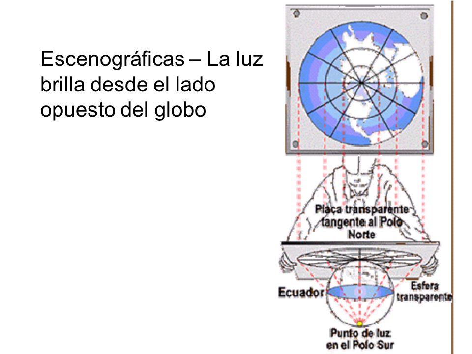 Escenográficas – La luz brilla desde el lado opuesto del globo