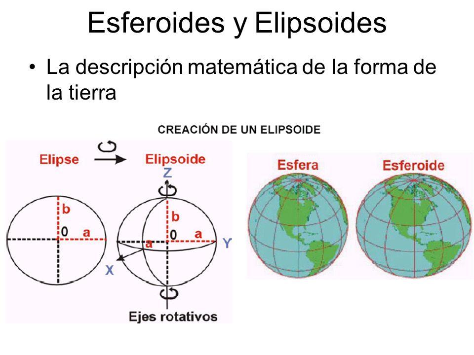Esferoides y Elipsoides La descripción matemática de la forma de la tierra