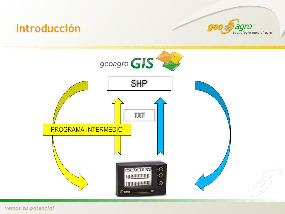 Introducción PROGRAMA INTERMEDIO SHP TXT