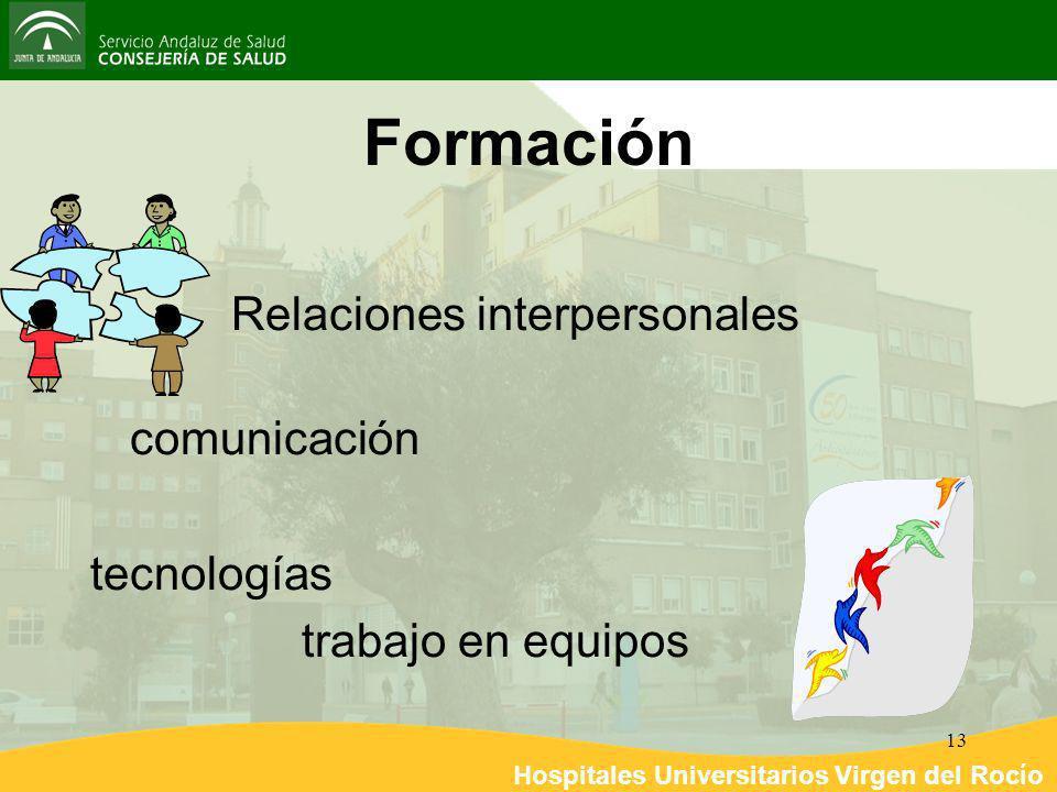 Hospitales Universitarios Virgen del Rocío 13 Formación Relaciones interpersonales comunicación tecnologías trabajo en equipos