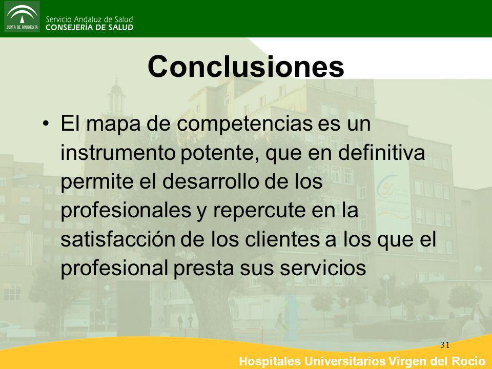 Hospitales Universitarios Virgen del Rocío 31 Conclusiones El mapa de competencias es un instrumento potente, que en definitiva permite el desarrollo