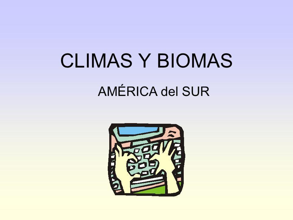 2 Mapa climático de América del Sur Cálido subecuatorial Cálido tropical Subtropical semihúmedo Templado de transición Templado semiárido Cálido ecuatorial Clima de montañaCálido áridoSubtropical con estación seca Templado oceánicoFrío oceánico