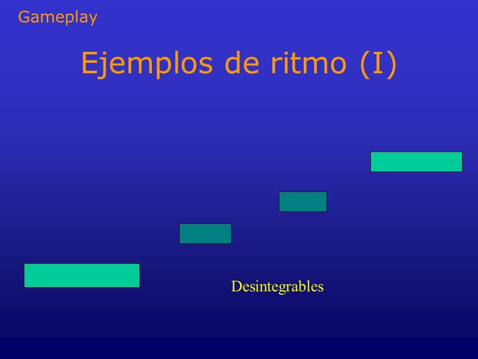 Ejemplos de ritmo (I) Desintegrables Gameplay