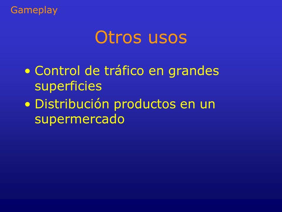 Otros usos Control de tráfico en grandes superficies Distribución productos en un supermercado Gameplay