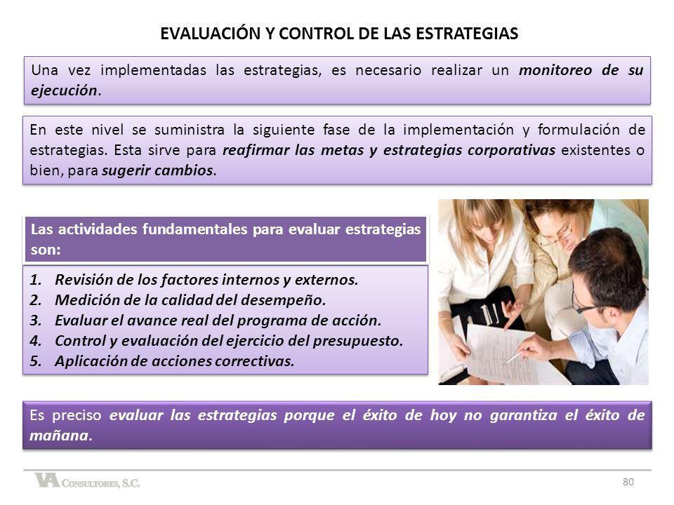 80 En este nivel se suministra la siguiente fase de la implementación y formulación de estrategias. Esta sirve para reafirmar las metas y estrategias