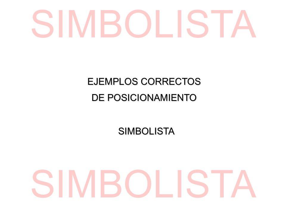 EJEMPLOS CORRECTOS DE POSICIONAMIENTO SIMBOLISTA SIMBOLISTA