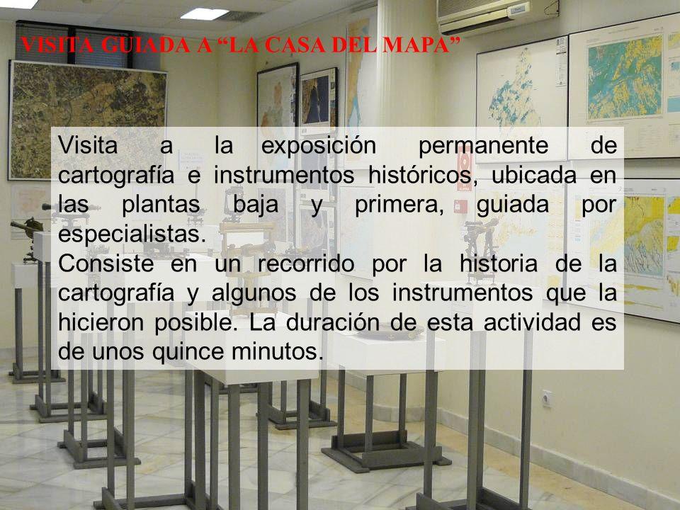 Visita a la exposición permanente de cartografía e instrumentos históricos, ubicada en las plantas baja y primera, guiada por especialistas.