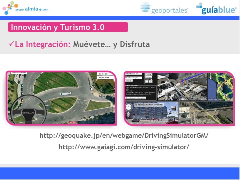 http://www.gaiagi.com/driving-simulator/ http://geoquake.jp/en/webgame/DrivingSimulatorGM/ La Integración: Muévete… y Disfruta Innovación y Turismo 3.0