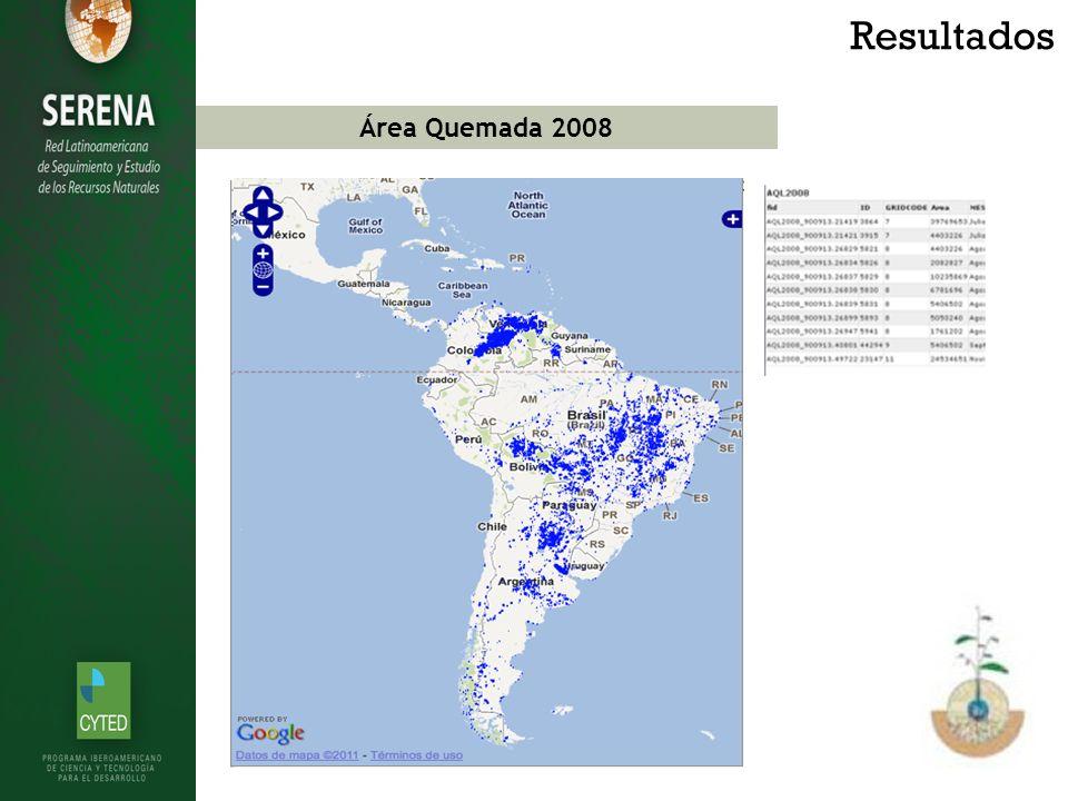Área Quemada 2008 Resultados