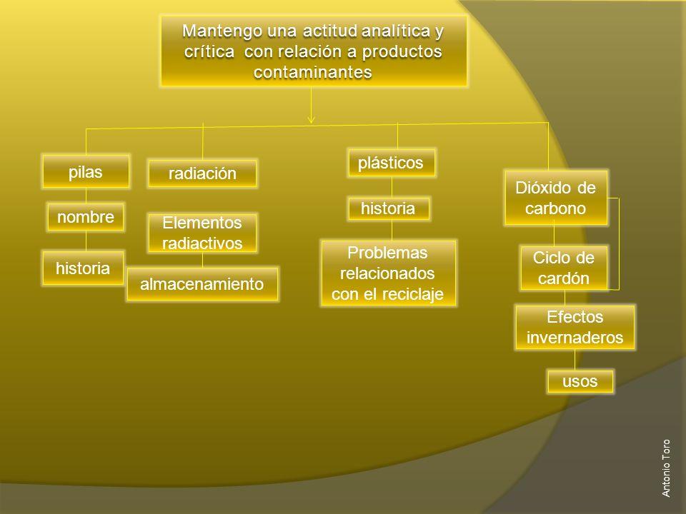 Principios de funcionamiento Tipos de pilas Pilas y el medio ambiente Antonio Toro