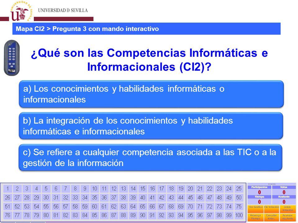 Estudio mapa CI2 universidades españolas Jornadas CRAI - Universidad La Rioja - 28 Junio 2012 12 ¿Qué son las Competencias Informáticas e Informacionales (CI2).