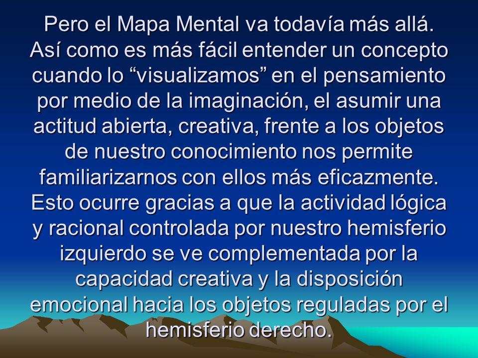 El Mapa Mental es una herramienta creativa pero ante todo, divertida pues despliega nuestra capacidad de dar forma, color y sustancia a nuestros pensamientos.