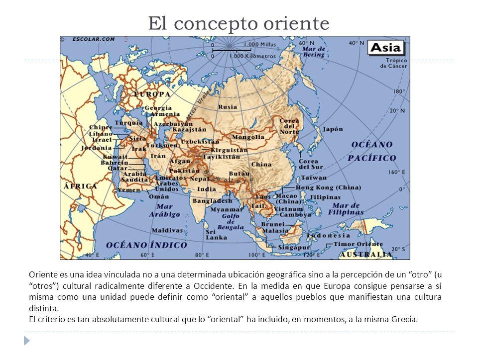 Mapa cultural de oriente (falta anexar China) ( 2009) Mapa cultural de Oriente.