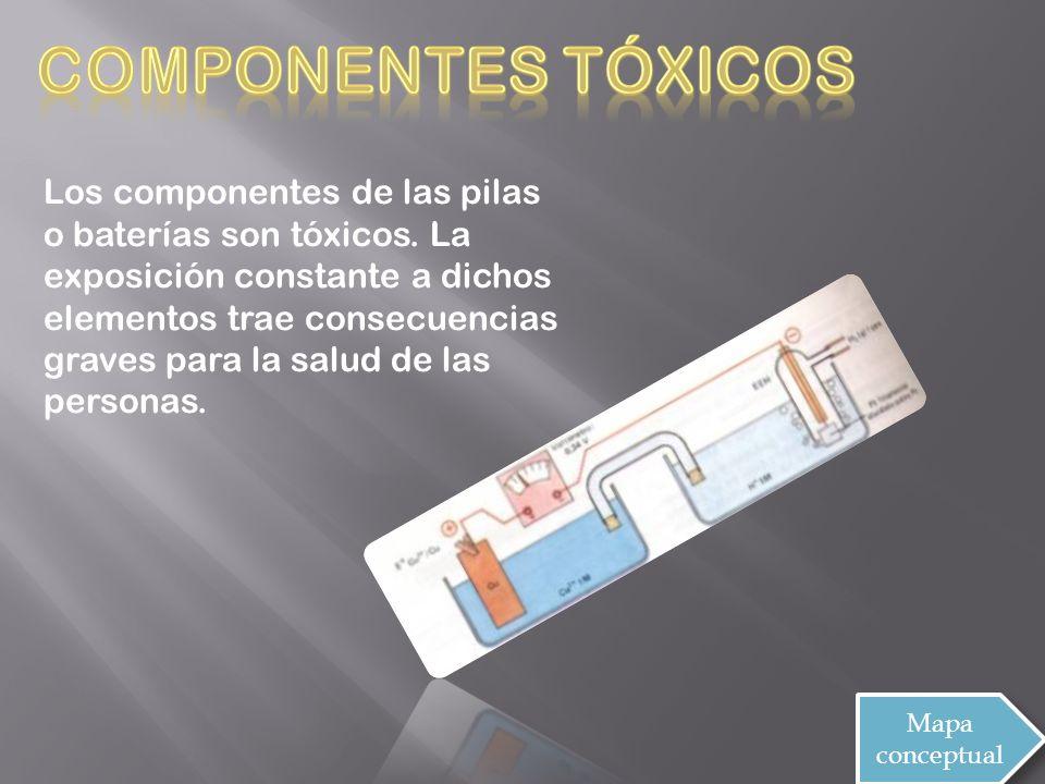 Los componentes de las pilas o baterías son tóxicos.