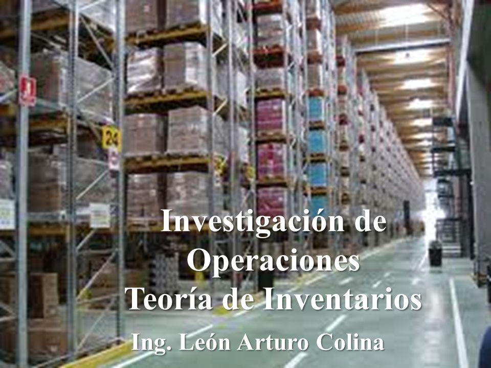 Investigación de Operaciones Teoría de Inventarios Ing. León Arturo Colina