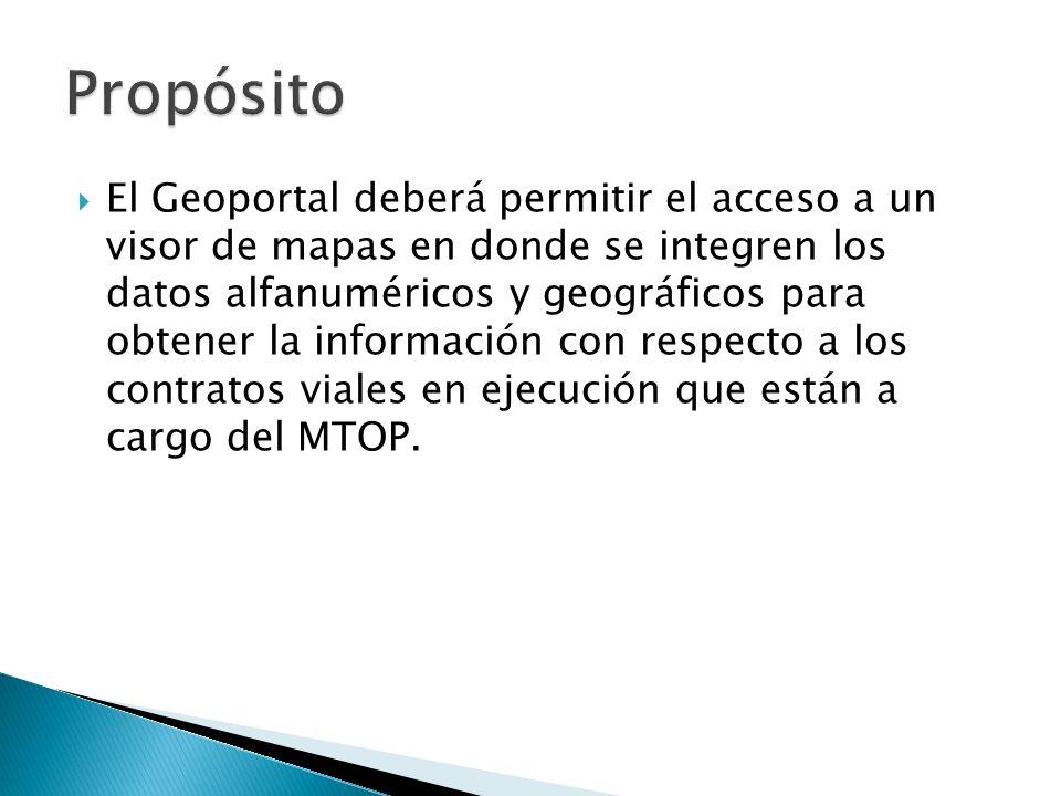 El Geoportal deberá permitir el acceso a un visor de mapas en donde se integren los datos alfanuméricos y geográficos para obtener la información con